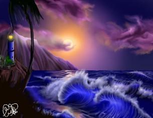 Маяк и шторм